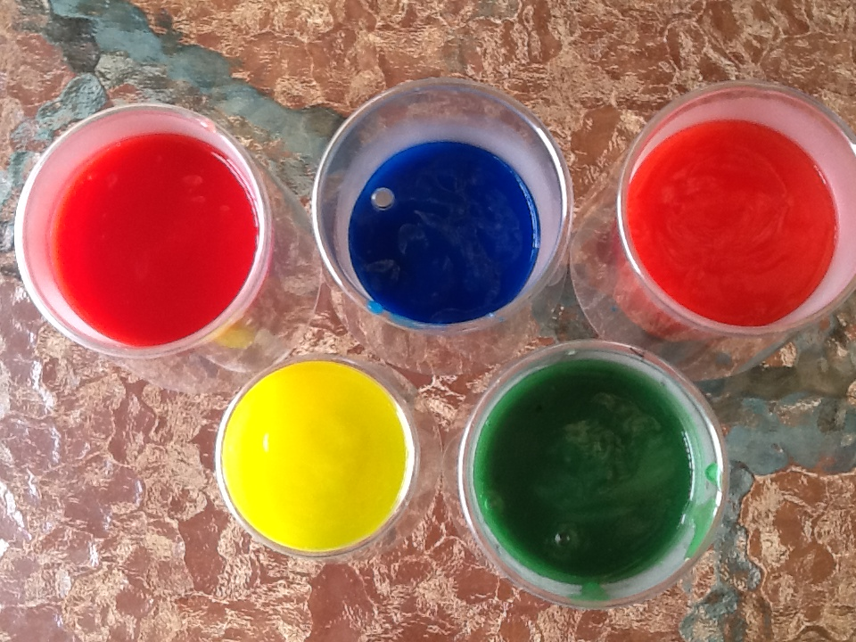 homeade finger paint