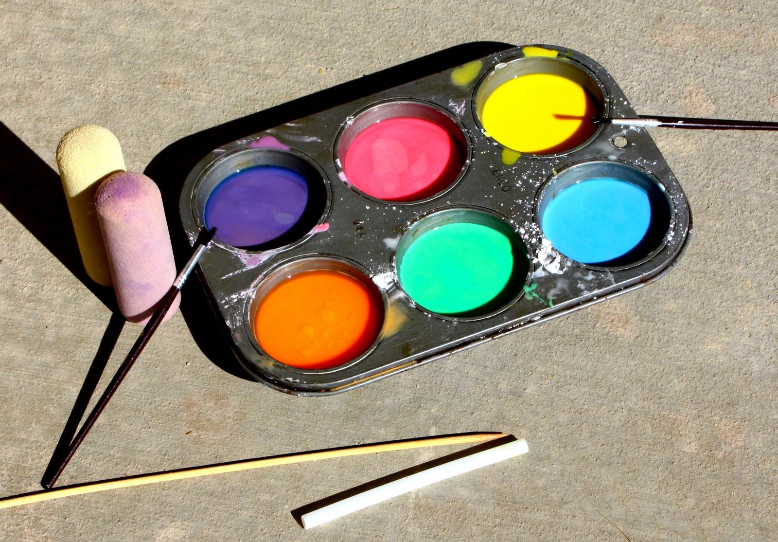 glitter paint sidewalk