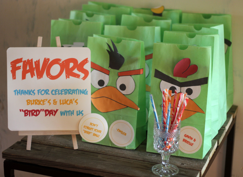 Angry Bird Favor Bags