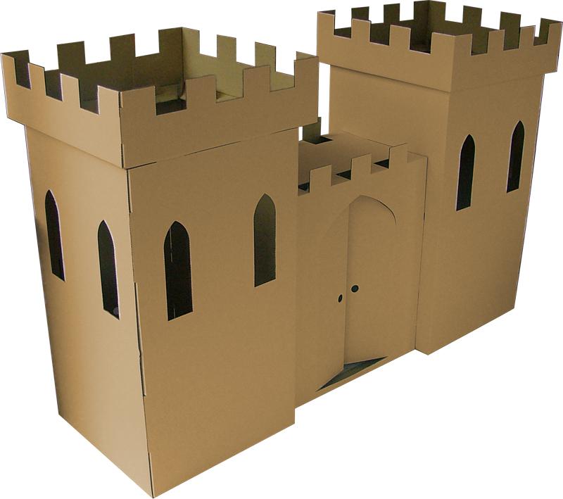 Замок из картона для ребенка своими руками 74