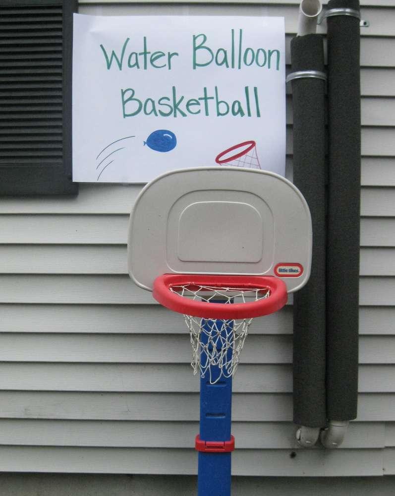 Water Balloon Basketball