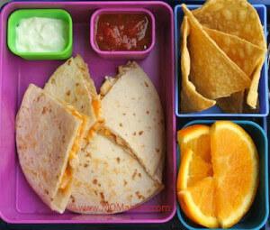 quesadillas chips oranges