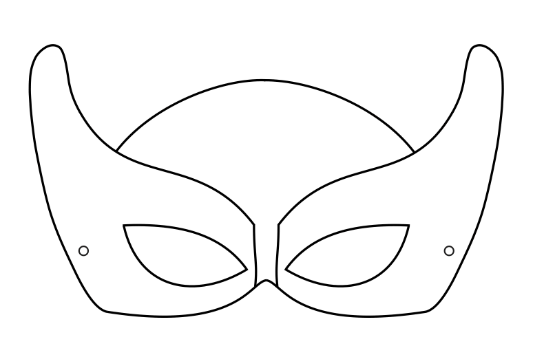 Super hero mask 1 crafts to do with kids for Children s mask templates