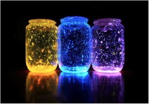 glowing jars for kids