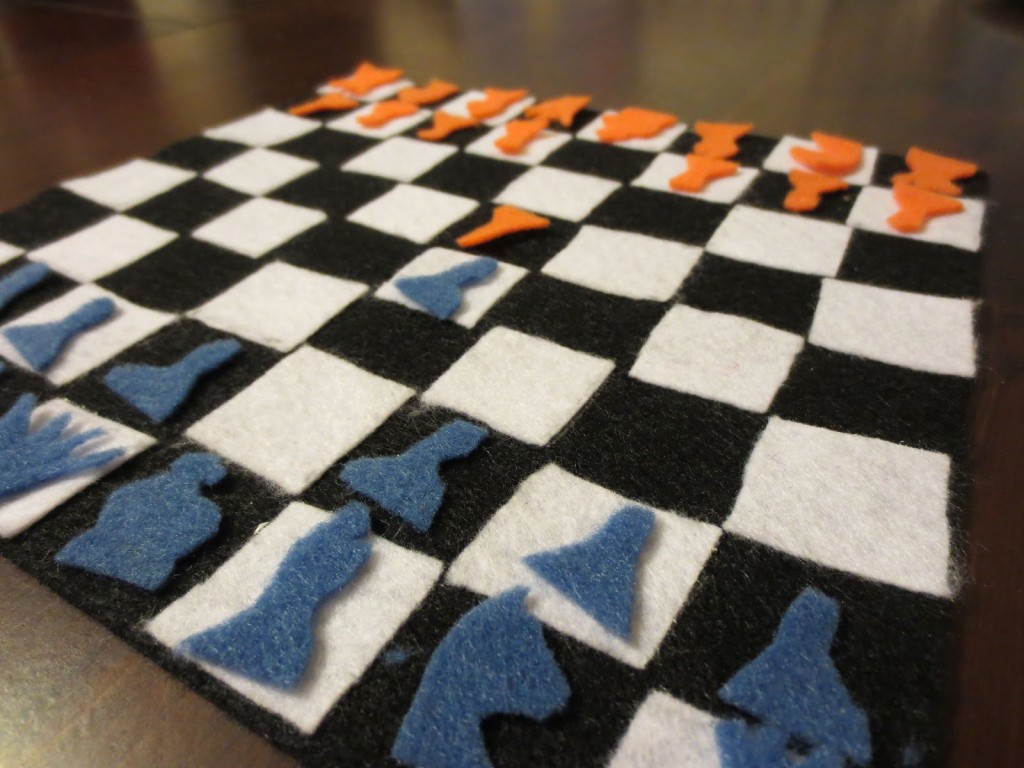 diy travel chess board