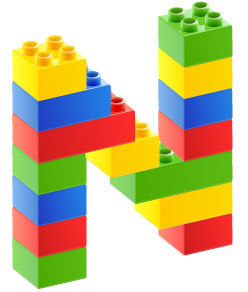 Build the whole alphabet with LEGOS
