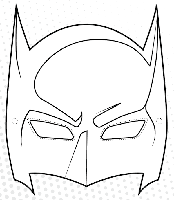photograph about Printable Batman Mask titled Printable Batman Mask - Crafts Towards Do With Young children