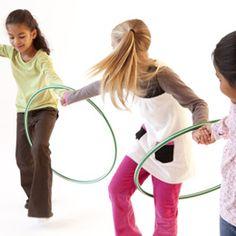 hula hoop pass game